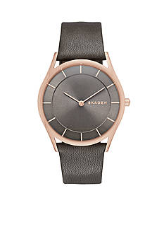 Skagen Women's Holst Leather Three Hand Watch