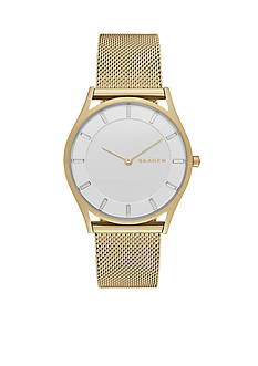 Skagen Women's Holst Gold-Tone Mesh Two Hand Watch
