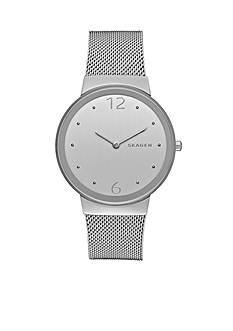 Skagen Women's Freja Silver-Tone Mesh Two Hand Watch