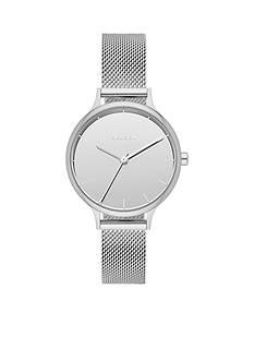 Skagen Ladies Anita Silver Three Hand Mirror Dial Watch