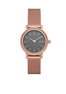 Skagen Women's Hald Rose Gold-Tone Mesh Stainless Steel Watch