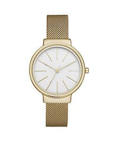 Skagen Women's Ancher Gold-Tone Stainless Steel Mesh Watch