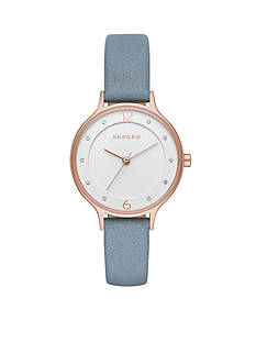 Skagen Women's Anita Blue Leather Watch
