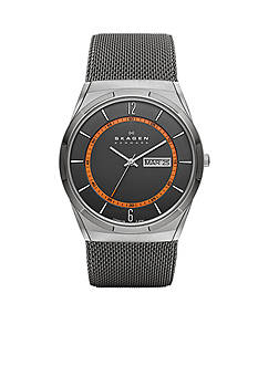 Skagen Men's Gray Mesh Titanium Watch