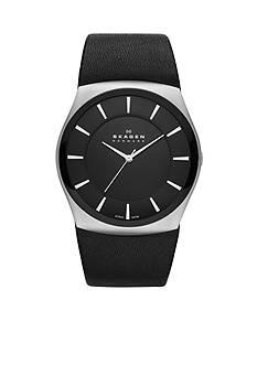 Skagen Black Leather Watch