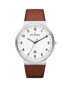 Skagen Men's Brown Leather Watch