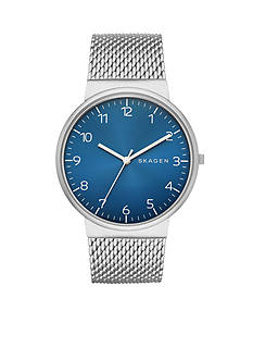 Skagen Ancher Heavy Gauge Mesh Blue Dial Watch