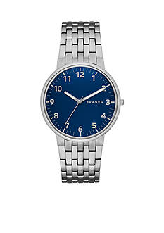 Skagen Men's Anchor Bracelet Blue Dial Two Hand Watch