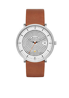 Skagen Men's Hald Brown Leather Solar Watch