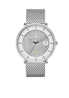Skagen Men's Hald Silver-Tone Mesh Stainless Steel Three-Hand Solar Watch