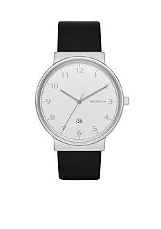 Skagen Men's Ancher Black Leather Watch
