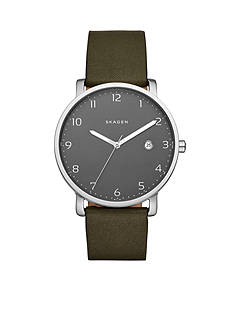 Skagen Men's Hagen Leather Watch