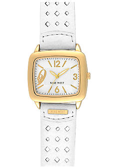 Nine West Gold Tank Case Watch