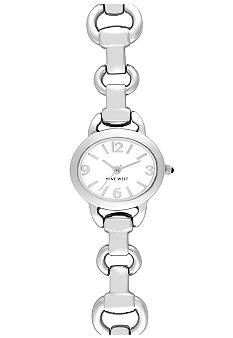 Nine West Oval Silvertone Bracelet