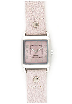 Nine West Square Bezel With Light Grey Strap
