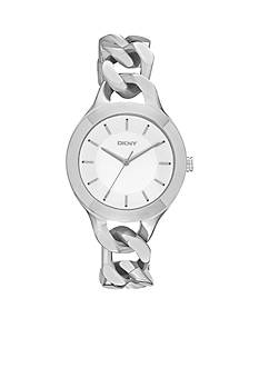 DKNY Women's Stainless Steel Chambers Three-Hand Watch