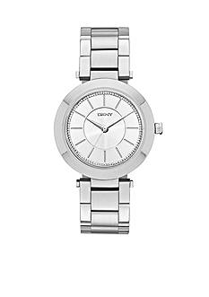DKNY Stanhope Stainless Steel Three-Hand Glitz Watch - Online Only