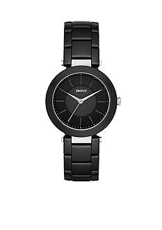 DKNY Stanhope Black Ceramic Three-Hand Watch - Online Only