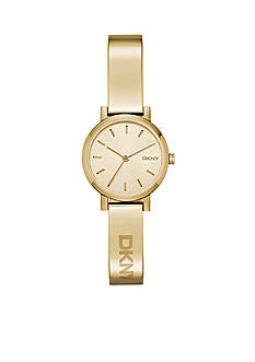 DKNY Soho Gold-Tone Stainless Steel Three-Hand Watch - Online Only