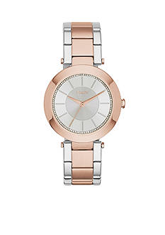 DKNY Two-Tone Stainless Steel Stanhope Three-Hand Watch