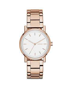 DKNY Rose Gold-Tone Stainless Steel SOHO Three-Hand Watch