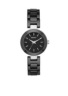 DKNY Black Stainless Steel Stanhope Three-Hand Watch