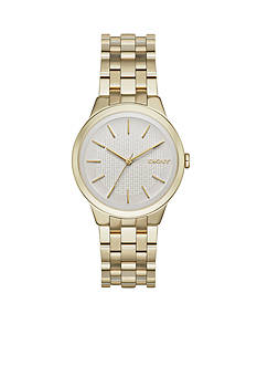 DKNY Women's Park Slope Gold-Tone Stainless Steel 3-Hand Watch