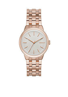 DKNY Women's Park Slope Rose Gold-Tone Stainless Steel Three-Hand Watch