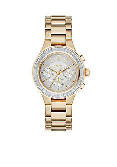 DKNY Women's Chambers Gold-Tone Stainless Steel Multi-Function Watch