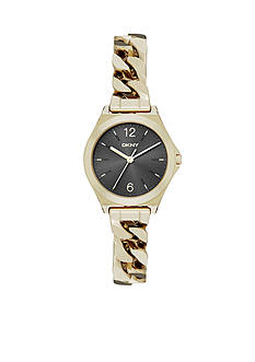 DKNY Women's Gold-Tone Parsons Three-Hand Watch