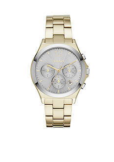 DKNY Women's Gold-Tone Parsons Chronograph Watch