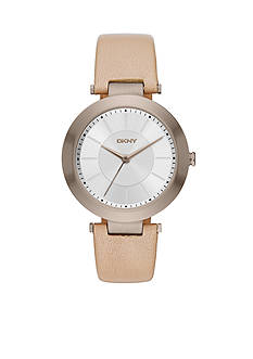 DKNY Women's Stanhope Tan Leather Three-Hand Watch