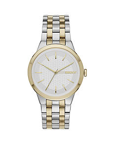 DKNY Women's Two-Tone Park Slope Three-Hand Watch