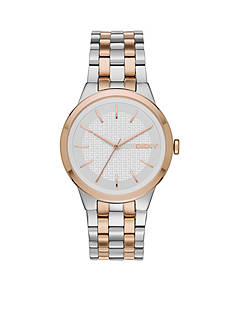 DKNY Women's Two-Tone Park Three-Hand Stainless Steel Watch