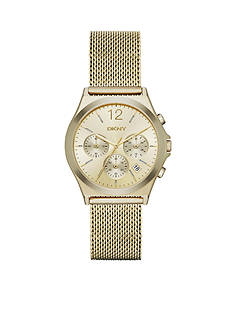 DKNY Women's Gold-Tone Parsons Stainless Steel Watch