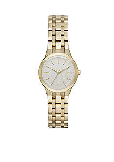 DKNY Women's Gold-Tone Park Slope Stainless Steel Three-Hand Watch