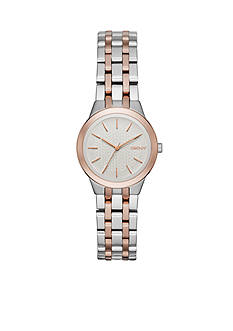 DKNY Women Two-Tone Park Slope Three-Hand Watch