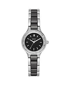 DKNY Women's Silver-Tone Chambers Three-Hand Watch