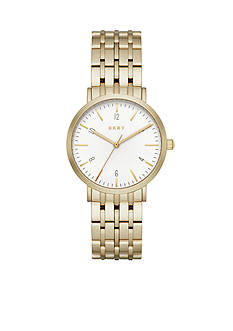 DKNY Gold-Tone Minetta Three-Hand Watch