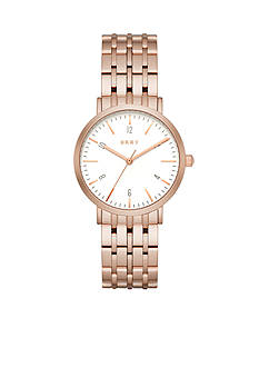 DKNY Women's Minetta Rose Gold-Tone Three-Hand Watch