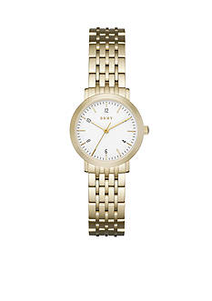 DKNY Women's Minetta Gold-Tone Three-Hand Watch