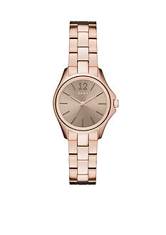 DKNY Women's Eldridge Rose Gold-Tone Three-Hand Watch