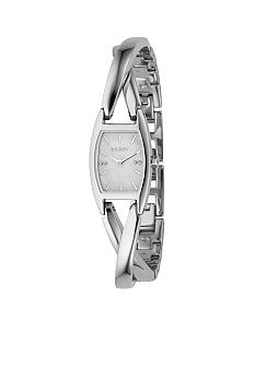 DKNY Silver Cross Over Ladies Bracelet Watch