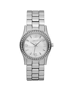 DKNY Ladies Stainless Steel Glitz Bracelet Watch