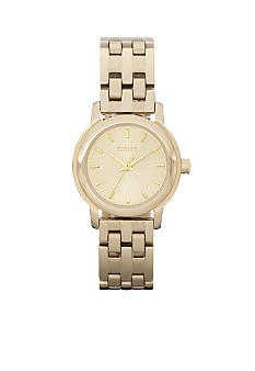 DKNY Gold Tone Sunray Dial Park Avenue Watch