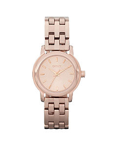 DKNY Rose Gold Tone Sunray Dial Park Avenue Watch