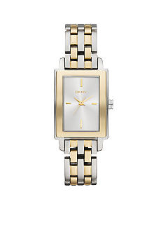DKNY Silver Tone and Gold Tone Stainless Steel Watch