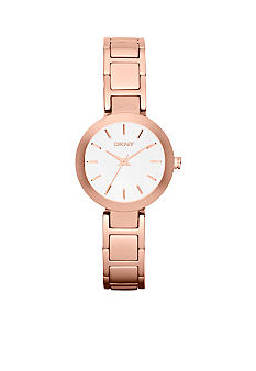DKNY Ladies Rose Gold Tone Stainless Steel Watch