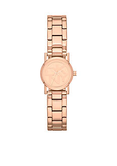 DKNY Women's Rose Gold Tone Three-Hand Logo Watch