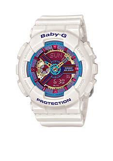 White Ana-Digi Multi Color Face Baby-G Watch